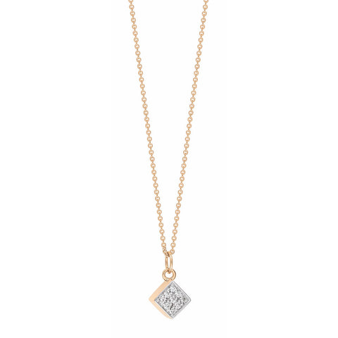 GINETTE NY Mini Diamond Ever Square Necklace