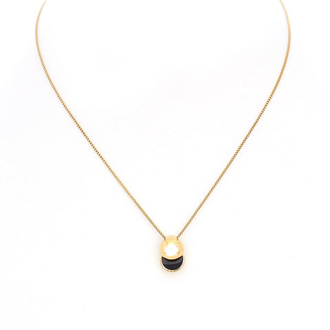 LARA BOHINC Gold Collision Onyx Necklace