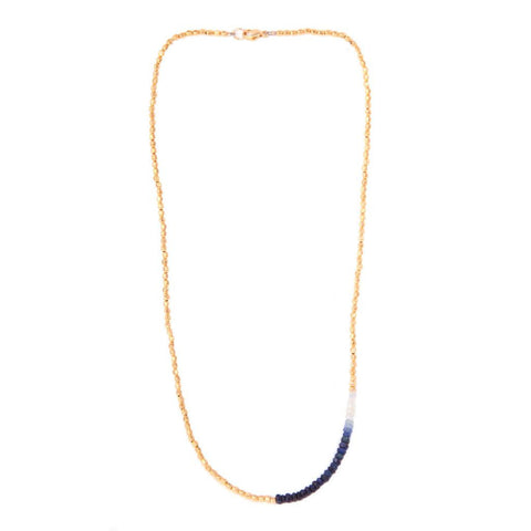 Catherine Weitzman Sapphire and Gold Necklace