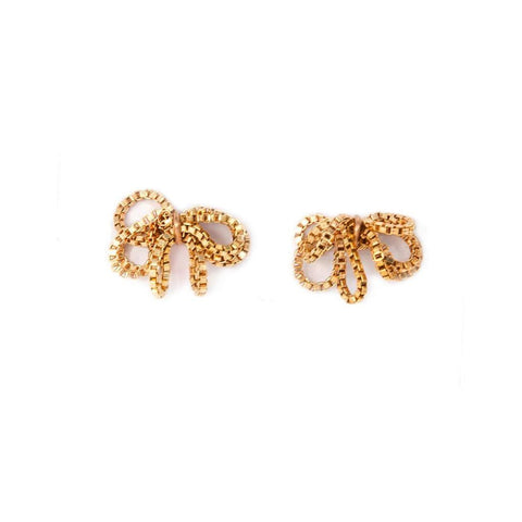 BY BOE Box chain cluster earrings gold