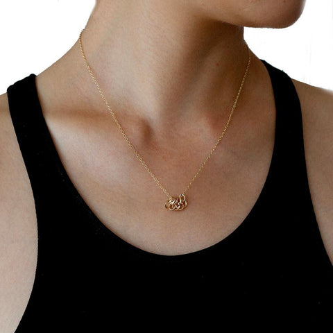BY BOE Jump rings nacklace gold