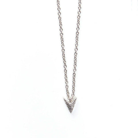 JADE JAGGER White Diamond Arrow Pendant Necklace