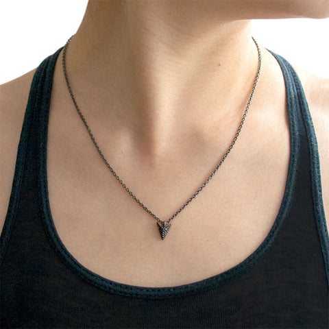 Jade Jagger Black Diamond Arrow Necklace