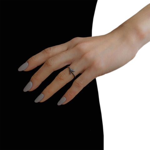 Jade Jagger Black Diamond Arrow Ring
