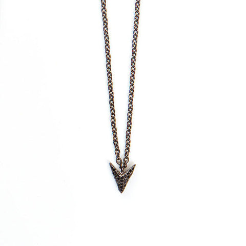 JADE JAGGER Black Diamond Arrow Pendant Necklace