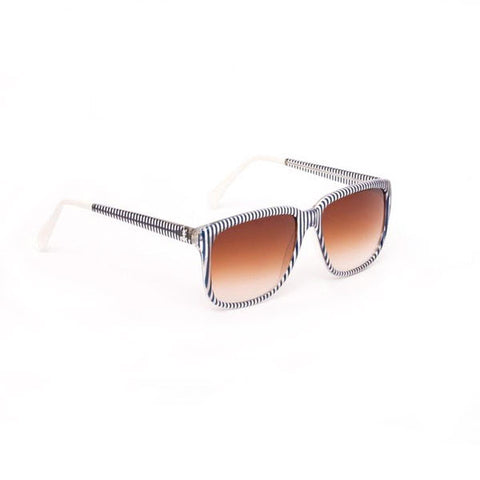 SHERIFF & CHERRY Tinted Navy Stripe Sunglasses