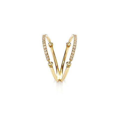 YANNIS SERGAKIS ADORNMENTS Liens Yellow Gold Diamond Ring