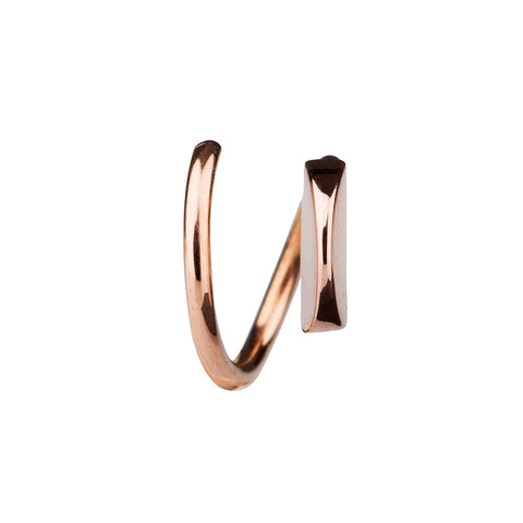 MARIA BLACK FINE JEWELRY Mae Twirl Rose Gold Earring