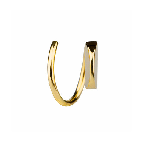 MARIA BLACK FINE JEWELRY Mae Twirl Yellow Gold Earring