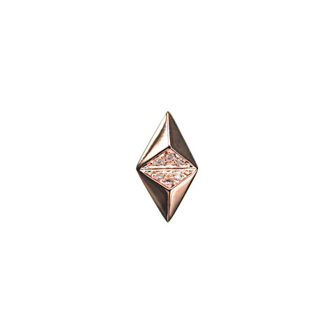 MARIA BLACK FINE JEWELRY Billy Diamond Rose Gold Earring