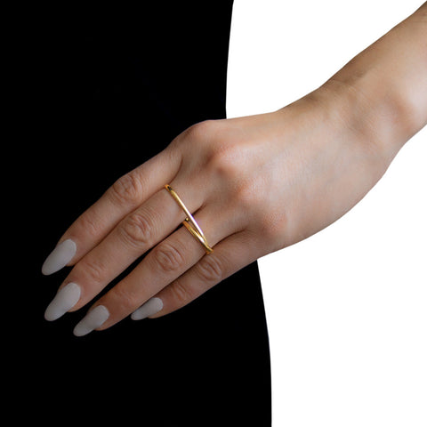 MAISON MARGIELA FINE JEWELRY Anamorphose Double Twisted Yellow Gold Ring