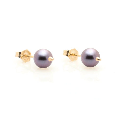 NEKTAR DE STAGNI Spike Mini Black Pearl Earrings
