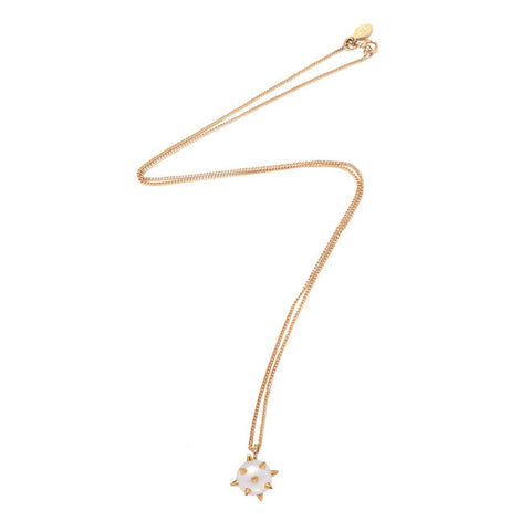 NEKTAR DE STAGNI Spike Pearl Gold Charm Pendant Necklace