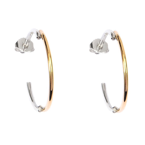 ADELINE CACHEUX Minimal Wire Gold and Sterling Silver Hoop Earrings