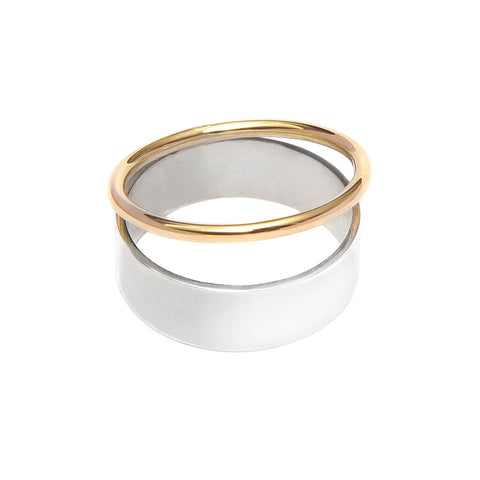 ADELINE CACHEUX Forever Gold and Sterling Silver Ring