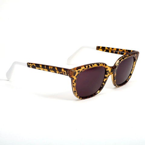 SHERIFF & CHERRY Wildcat Honey Sunglasses