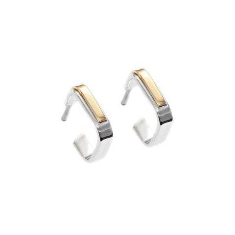 ADELINE CACHEUX Pop Stripes Square Earrings