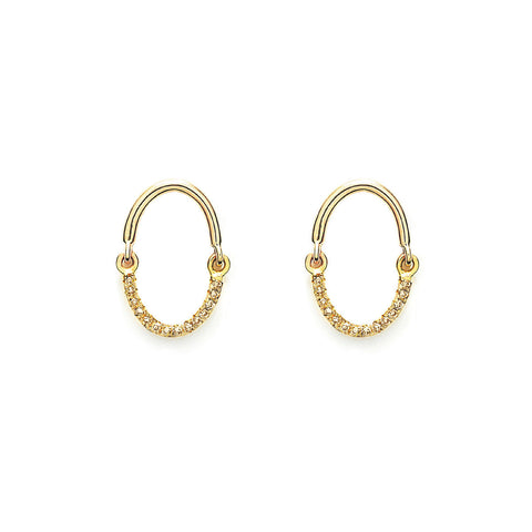 YANNIS SERGAKIS ADORNMENTS Liens Yellow Gold Diamond Earrings
