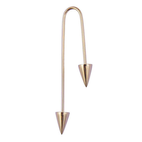 ASHERALI KNOPFER Yellow Gold Bar Earring