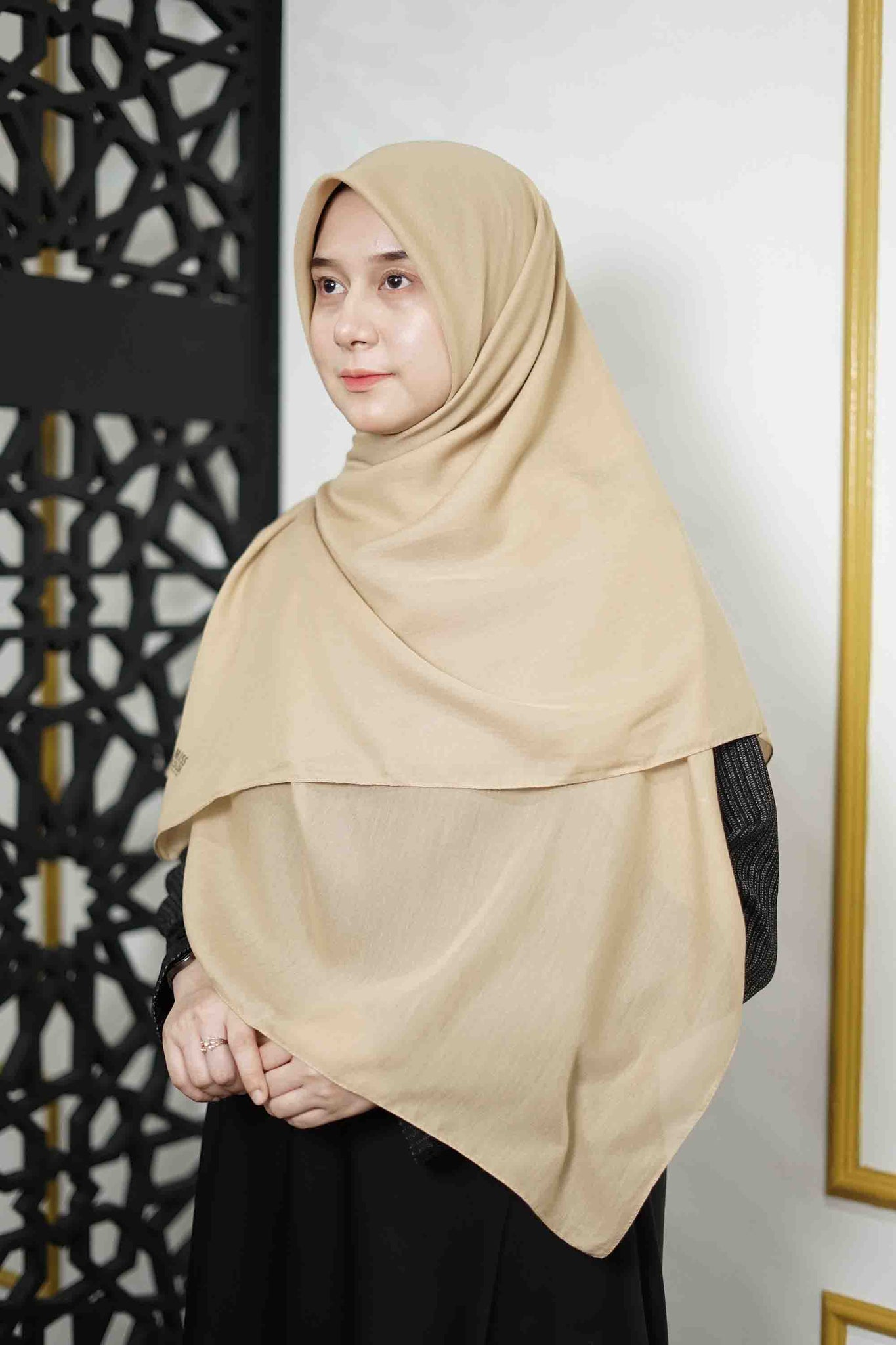 Zahra Cotton (GRED A) - Nude brown