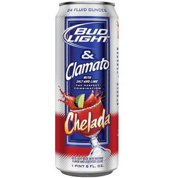 BUD LIGHT & CLAMATO 24OZ CANS