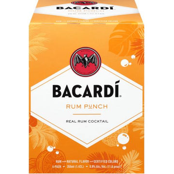 BACARDI RUM PUNCH REAL RUM COCKTAIL 4PK CANS