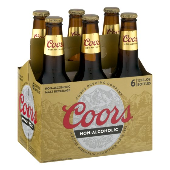 COORS NON-ALCOHOLIC 6-PACK BOTTLES