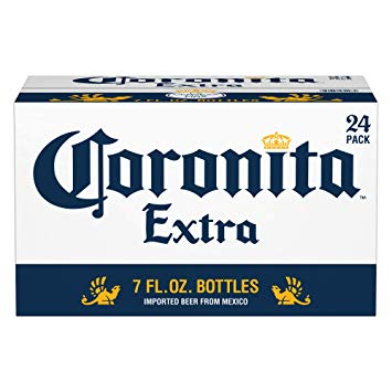 Corona Extra, Coronita Mexican Import Beer, 24 pk 7 fl oz Bottles, 4.6% ABV