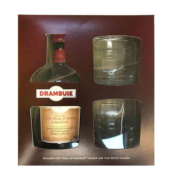 DRAMBUIE W/ 2 ROCK GLASSES GIFT SET