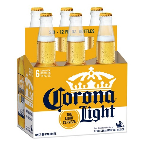 CORONA LIGHT 6-PACK 12OZ BOTTLES