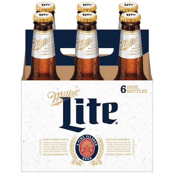 MILLER LITE 6-PACK 12OZ BOTTLES