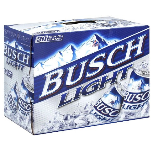 BUSCH LIGHT 30-PACK 12OZ CANS