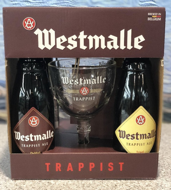 WESTMALLE TRAPPIST 4-PACK WITH GLASS
