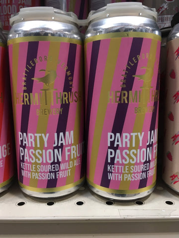 HERMIT THRUSH PARTY JAM PASSION FRUIT 4PK CANS