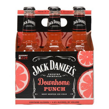 JACK DANIELS DOWNHOME PUNCH 6-PACK BOTTLES
