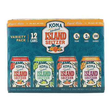 KONA SPIKED ISLAND SELTZER VARIETY PACK 12PK CAN