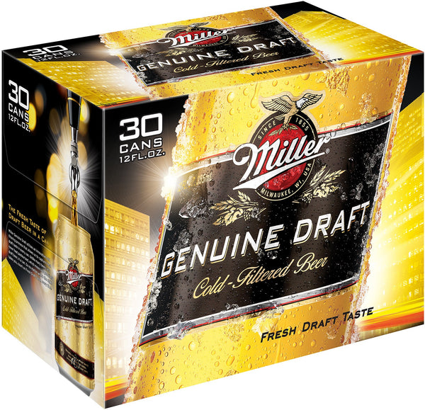 MILLER DRAFT 30-PACK 12OZ CANS