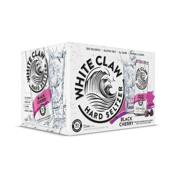 WHITE CLAW SELTZER BLACK CHERRY 12-PACK CANS