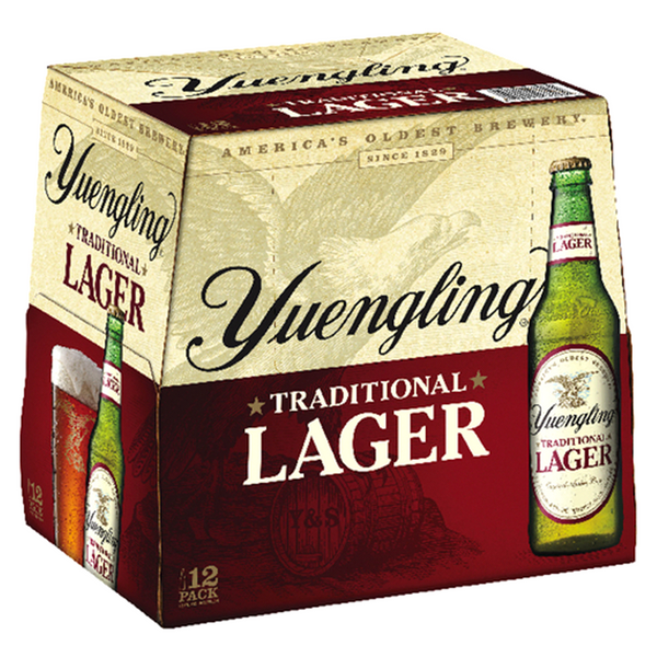 YUENGLING LAGER 12-PACK 12OZ BOTTLES