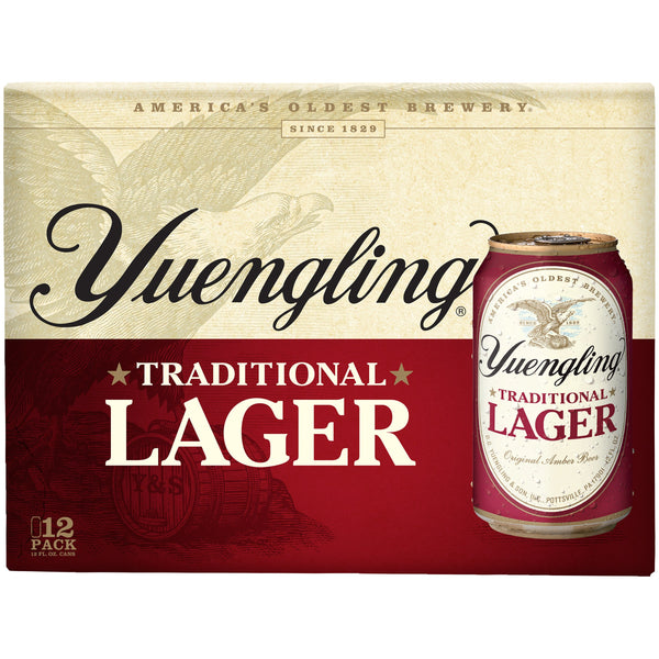 YUENGLING LAGER 12-PACK CANS