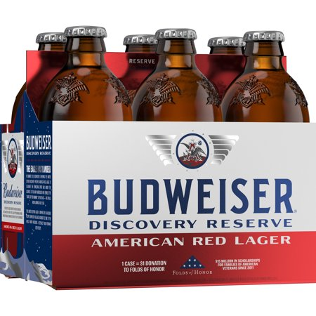 BUDWEISER FREEDOM COPPER / RESERVE RED 6-PACK BOTTLES