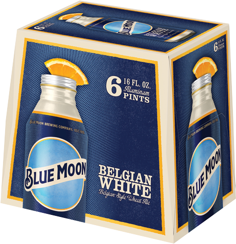 BLUE MOON 6 PACK 16OZ ALUMINUM PINTS