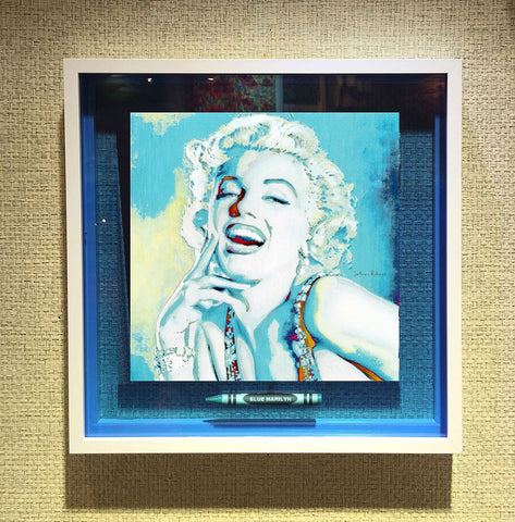 BLUE MARILYN POP CRAYON ART Crayon Collectible
