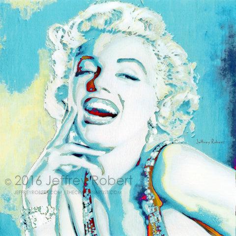 BLUE MARILYN Limited Edition Canvas Giclee