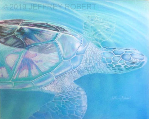 New! HONU BLUES 20X16 Original/15x12 Giclee