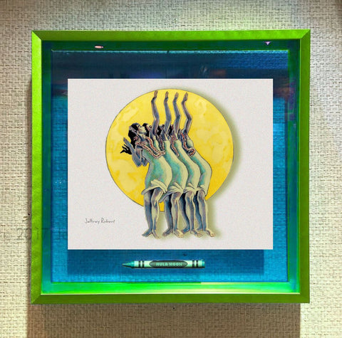 HULA MOON Crayon Collectible