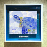 BLUE HONU ALOHA Crayon Collectible