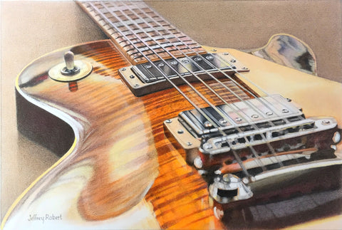 LES PAUL GUITAR IN CRAYON