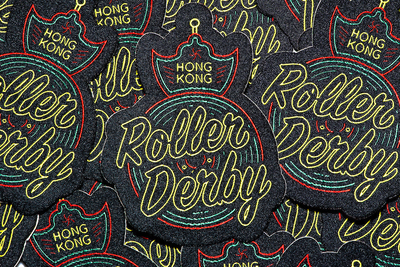 Hong Kong Roller Derby Patch