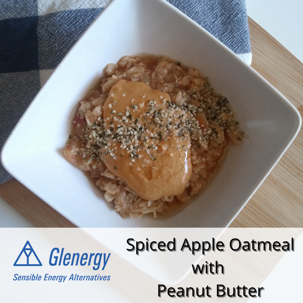 Spiced Apple Oatmeal With Peanut Butter